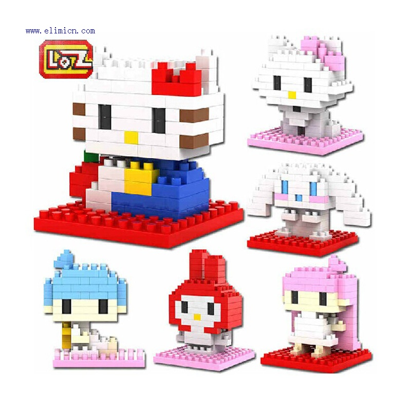 LOZ Cartoon Series Blocks Mini Hello kitty Blocks
