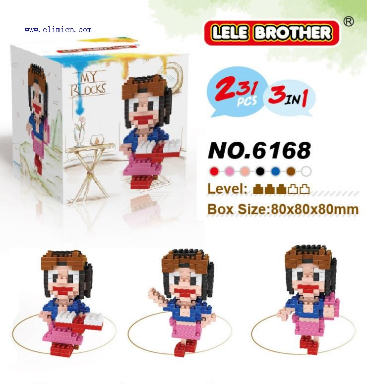 LE LE 3IN1 One Piece Blocks 6168