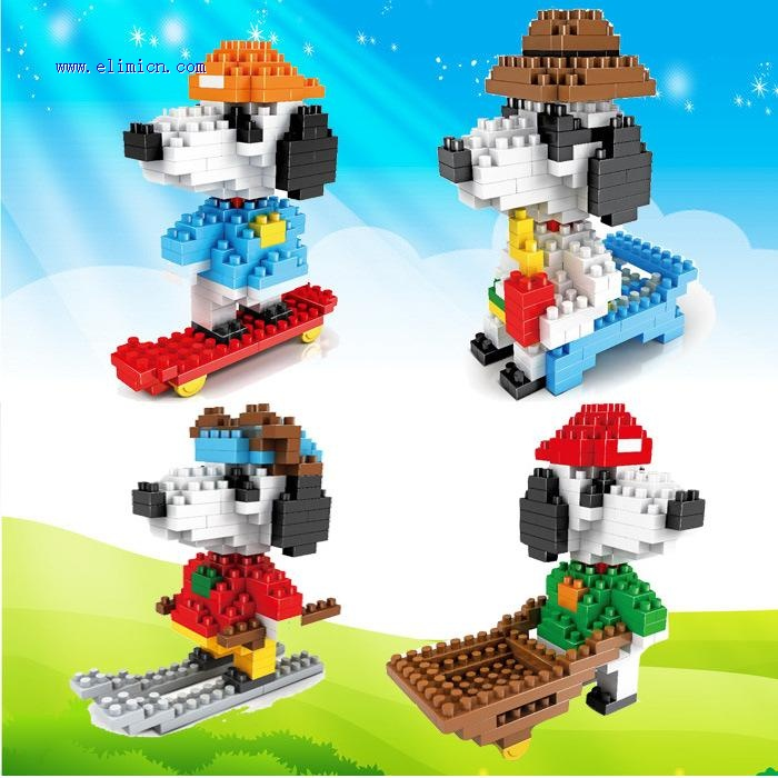 COGO DIY Blocks Snoopy