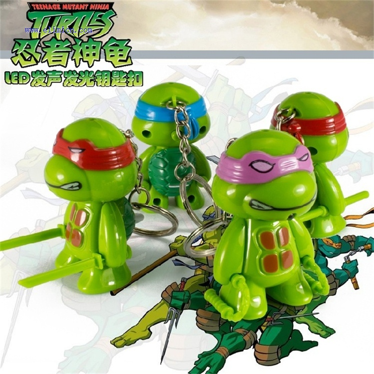 Turtles Led Keychain