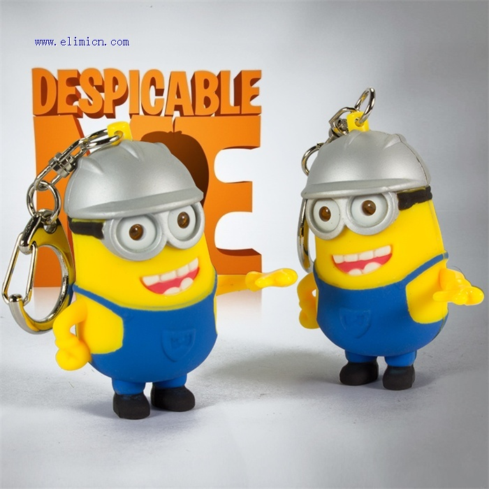 Working Minions Led Keychain