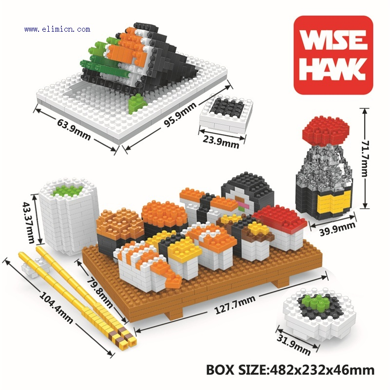 Weagle Blocks Japanese Sushi 2341