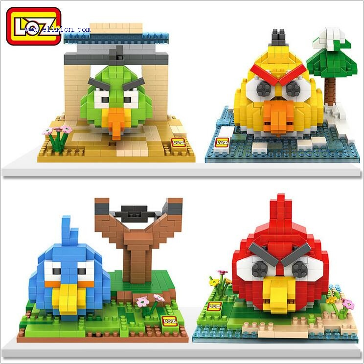 LOZ Diamond Blocks Angry Bird 9512-9515