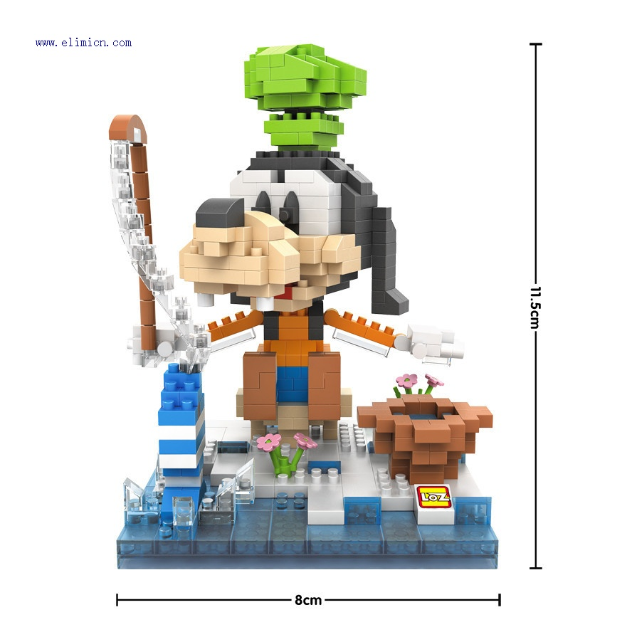 LOZ Micro Blocks Disney Fishing Goofy 9639