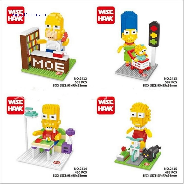 wisehawk Mini Blocks The Simpsons 2412-2415