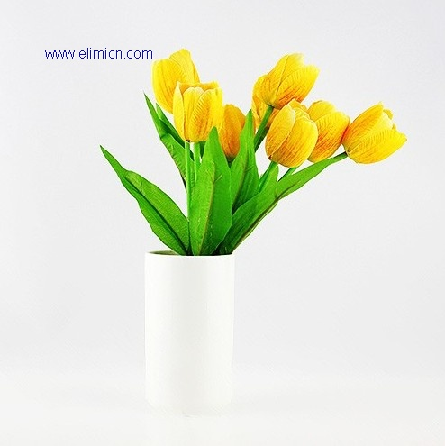 Artificial yellow tulip flower