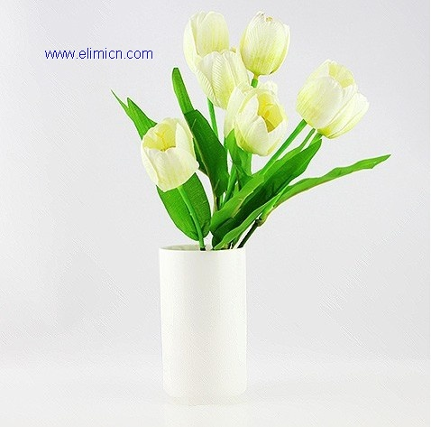 Artificial white tulip flower