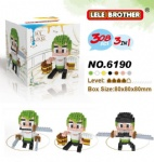 LE LE 3IN1 One Piece Blocks 6190