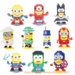 QCF DIY Blocks Minions 9557-9561