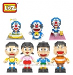 LOZ Mini Blocks Doreamon 9806-9810