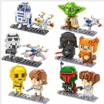 LOZ Star wars DIY Blocks 9528-9533