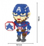 HC Diamond Blocks Marvel Captain America 9018